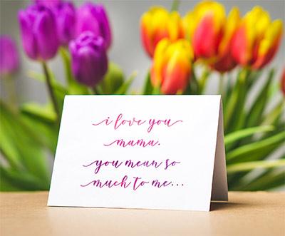 Mother's Day Handwritten Card