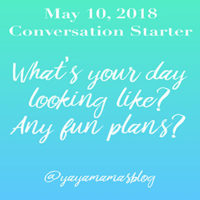 What's your day looking like? Anything fun planned?